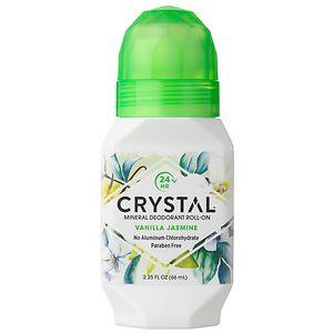 Crystal Essence Mineral Roll-On Deodorant, Vanilla Jasmine