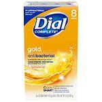 Dial Antibacterial Deodorant Bar Soap, 4.0 oz Bars, Gold