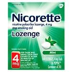 Nicorette Lozenge, 4mg, Mint- 144 ea