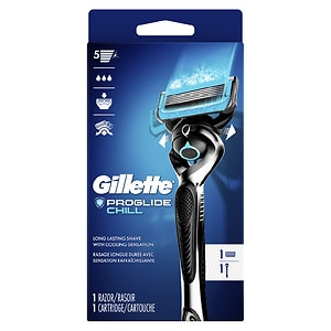 Gillette Fusion ProShield Chill Razor With FlexBall Handle and 1