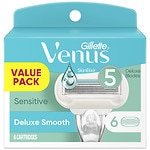 Gillette Venus Embrace Sensitive Women's Razor Refill Cartridges- 6 ea