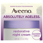 Aveeno Active Naturals Absolutely Ageless Restorative Night Cream, Blackberry- 1.7 oz