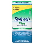 Refresh Plus Lubricant Eye Drops, Single-Use Containers- 70 ea