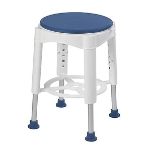 Drive Medical Bathroom Safety Swivel Seat Shower Stool, Blue