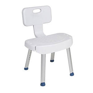 Drive Medical Bathroom Safety Shower Chair with Folding Back,