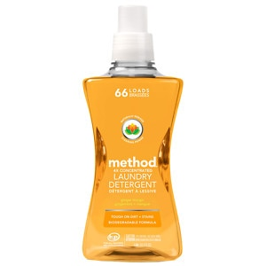 method Laundry Detergent 4x Concentrated, Ginger Mango, 66 load