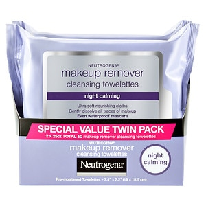 Neutrogena Night Calming Makeup Remover Cleansing Towelettes, 2 pk