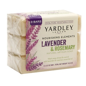 Yardley of London Nourishing Elements Natural Artisan Bar Soap,