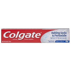 Colgate Baking Soda And Peroxide Whitening Bubbles Toothpaste, Brisk Mint