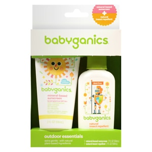 Babyganics Sunscreen & Bug Spray SPF 50, 2 pk