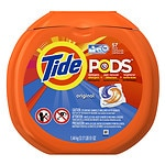 Tide PODS Laundry Detergent Pacs, Original- 57 ea