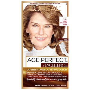 L'Oreal Paris Excellence Age Perfect Permanent Layered-Tone Flattering Color, Medium Soft Golden Brown