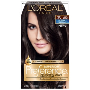 L'Oreal Paris Preference Fade Defying Color & Shine System, Permanent, Cool Darkest Brown