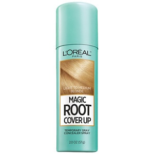 L'Oreal Paris Root Cover Up Temporary Gray Concealer Spray, Light to Medium Blonde