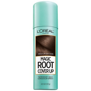 L'Oreal Paris Root Cover Up Temporary Gray Concealer Spray, Light
