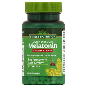 Finest Nutrition Melatonin Quick Dissolve 3 mg, Cherry, 60 ea