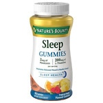 Nature's Bounty Sleep Complex 3 mg Melatonin/200 mg Gummies, Punch- 60 ea