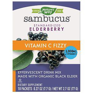 Nature's Way Sambucus Fizzy Made with Organic Elderberry, Berry
