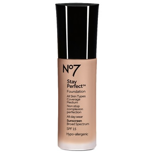 Boots No7 Stay Perfect Foundation SPF 15, Wheat, 1 oz
