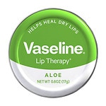 Vaseline Lip Therapy Lip Balm Tin, Aloe Vera- .6 oz
