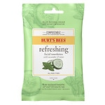 Burt's Bees Facial Cleansing Towelettes, Cucumber & Sage- 10 ea