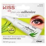 Kiss Strip Lash Adhesive with Aloe, Clear- .25 oz