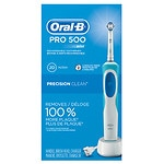 Oral-B Pro 500 Electric Rechargeable Toothbrush with Precision Clean Brush Head- 1 ea