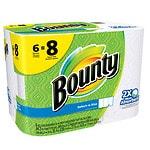 Bounty Select A Size Paper Towels Big Rolls- 6 ea