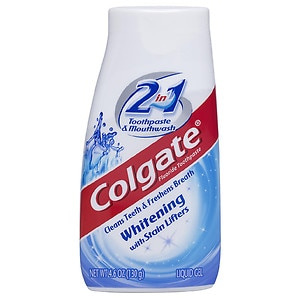 Colgate 2 in 1 Toothpaste & Mouthwash, Whitening- 4.6 oz