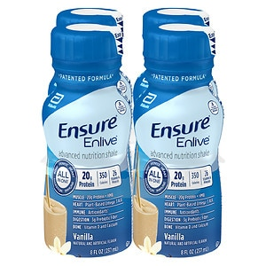 Ensure Enlive Advanced Nutrition Shake, Vanilla, 4pk