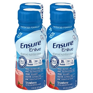 Ensure Enlive Advanced Nutrition Shake, Strawberry, 4pk