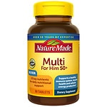 Nature Made Multi for Him 50+, Complete Multi Vitamin/Mineral,