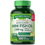 Nature's Truth Mini Fish Oil 1300mg, Lemon- 100 ea