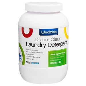 Woolzies Natural Powder Laundry Detergent, Lemon & Lime, 100 loads