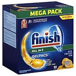 Finish Gelpacs Dishwasher Detergent- 90 ea