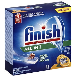 Finish Powerball Tabs Dishwasher Detergent Tablets