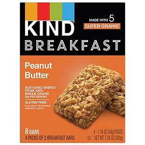 KIND Breakfast Bar, Peanut Butter, 4 pk