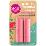 eos Lip Balm Stick, Strawberry Sorbet, 2pk- .28 oz