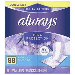Always Liners Xtra Protection Regular Dailies Wrapped