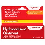 Walgreens Hydrocortisone Ointment 1% Maximum Strength- 1 oz