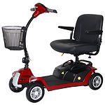 Shoprider Escape 4 Wheel Portable Scooter, Red- 1 ea