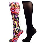 Celeste Stein Therapeutic Compression Sock, black, 8-15 mmHg, 2 pk- 1 ea