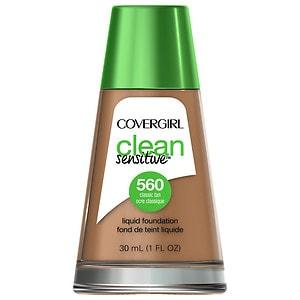 CoverGirl Clean Sensitive Skin Liquid Foundation, Classic Tan, 1 oz