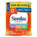 Similac Sensitive Formula Powder, Makes 213 Ounces- 213 oz