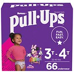 Huggies Pull-Ups Learning Designs Training Pants for Girls, 3T - 4T- 66 ea