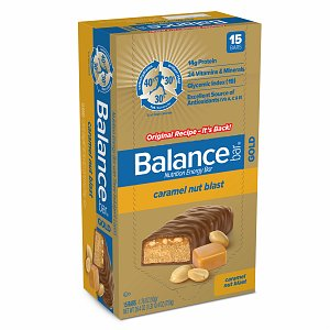 Balance Bar GOLD Nutrition Bar with Three Indulgent Layers, Caramel Nut Blast