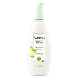 Aveeno Positively Radiant Cleanser, with moisture-rich soy extracts- 6.7 fl oz