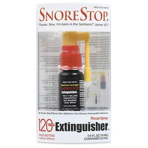 SnoreStop Extinquisher, Homeopathic Anti-Snoring Oral Spray- .4 oz