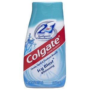 Colgate 2 in 1 Toothpaste & Mouthwash, Whitening Icy Blast- 4.6 oz