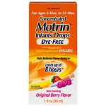 Infants' Motrin Ibuprofen Oral Suspension, Concentrated Drops, Dye-Free Berry Flavored Drops